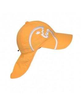 iQ Kids UV 200 Cap with Neck Protection Orange
