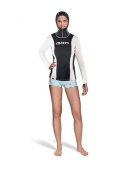 Mares Fireskin Long Sleeve with Hood She Dives