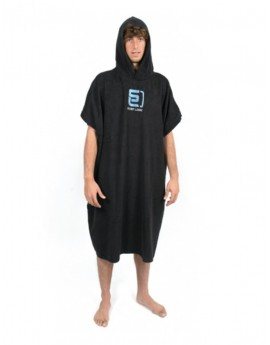 SurfLogic Black Towel Poncho