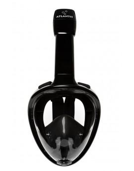 Atlantis Volgelaat Snorkelmasker Zwart