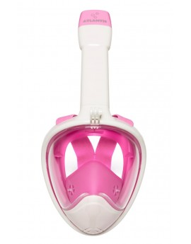Atlantis 2.0 Full Face Snorkel Mask White/Pink