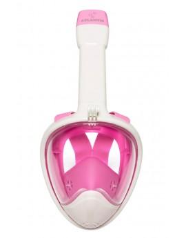 Atlantis 2.0 Volgelaat Snorkelmasker White/Pink