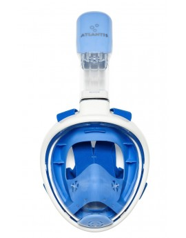 Atlantis Kid's Full Face Snorkel Mask Wit/Blauw
