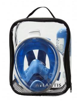 Atlantis Kid's Full Face Snorkel Mask White/Blue