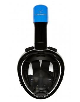 Atlantis Kids Volgelaat Snorkelmasker Zwart/Blauw