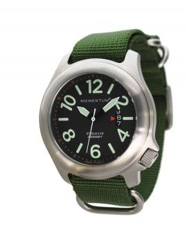 Momentum Steelix Black/Green NATO Duikhorloge