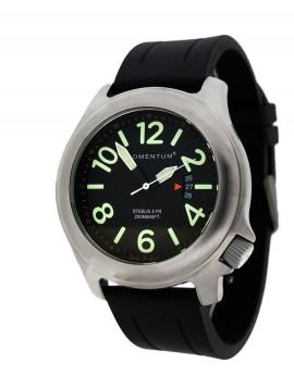 Momentum Steelix Black/Black Rubber Dive Watch