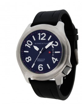 Momentum Steelix Blue/Black Rubber Dive Watch