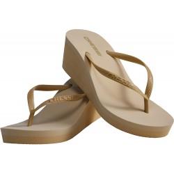 Cressi Lady Flip Flops Marbella High Heel Gold