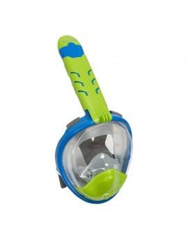 Atlantis 3.0 Kinder Volgelaat Snorkelmasker Blauw/Groen