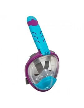 Atlantis 3.0 Kinder Volgelaat Snorkelmasker Paars/Blauw
