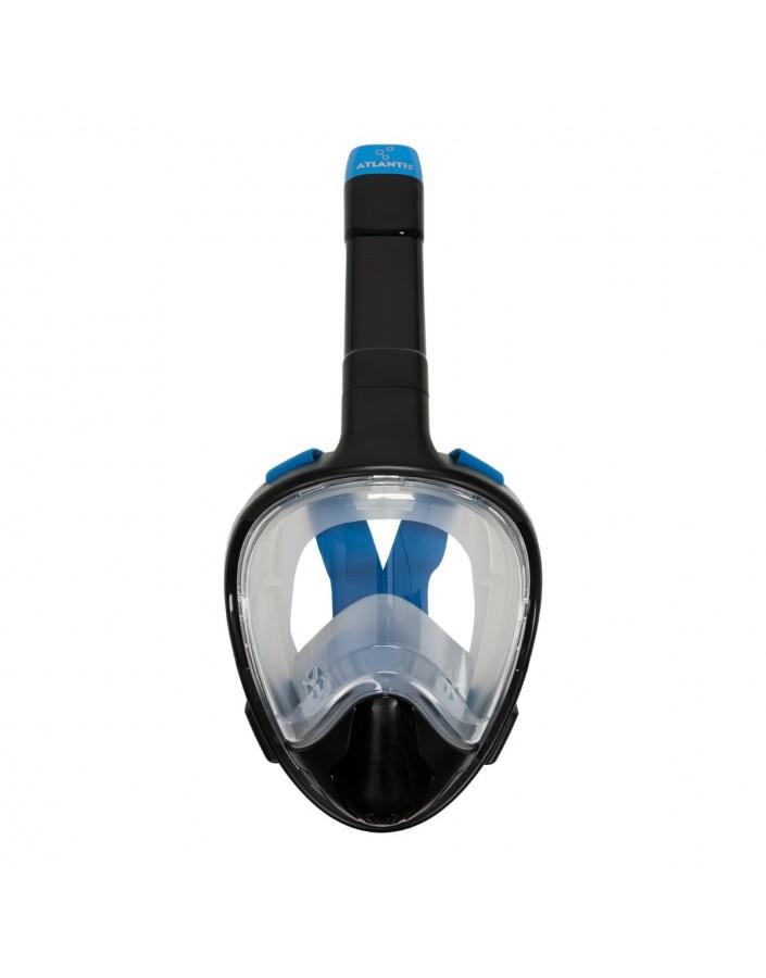 Atlantis 3.0 Volgelaat Snorkelmasker Zwart Blauw