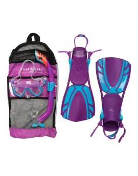 Aqua Lung Regal Junior Purple Snorkel Set