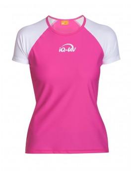 iQ UV 300 T-Shirt Beach & Boat White Pink