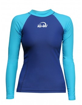 iQ UV 300 Shirt LS Watersport Turquoise Blue