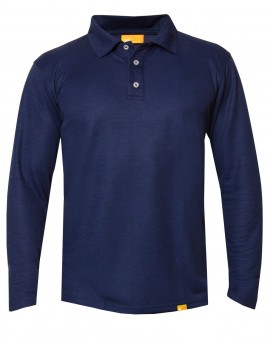 iQ UV Polo Shirt LS Men Casual & Outdoor Dark Blue