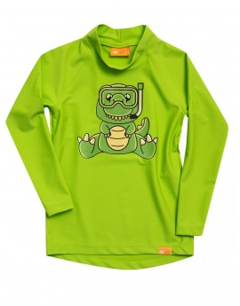 iQ UV 300 Shirt LS Dino Kids Neo Green