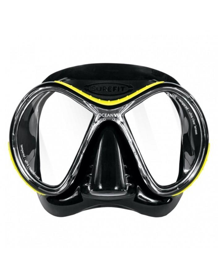 Oceanic Oceanvu Black Yellow Mask