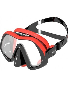 Atomic Venom Frameless Red Dive Mask