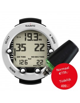 Suunto Vyper Novo White + Transmitter + USB Interface + Bungee Kit + Protection Boot