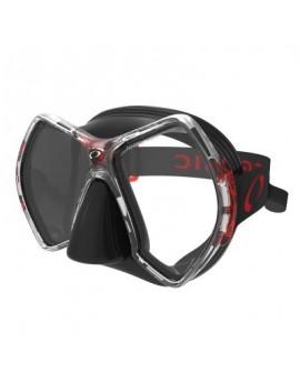 Oceanic Cyanea Black Red Duikmasker