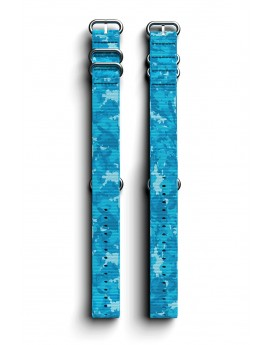 Cosmiq+ Camouflage NATO Polsband Crystal Blue