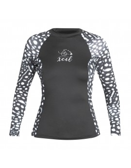 Xcel Womens Whale Shark Inspired L/S UV Shirt