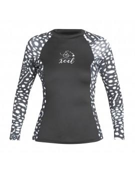 Xcel Womens Whale Shark Inspired L/S UV Shirt