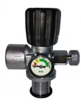 M25x2 300 Bar Kraan met Manometer en Ontluchter
