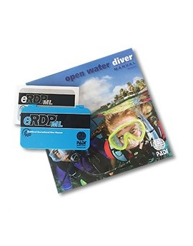 PADI Open Water Diver Manual with eRDPML