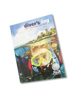 PADI Diver's Log and Training Record Blue