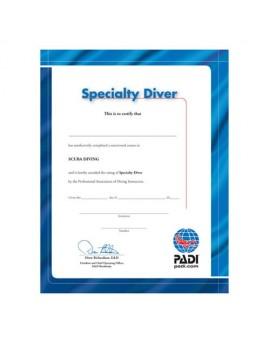 PADI Certificate - Specialty Diver