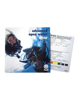 PADI Advanced Open Water Diver Manual + Data Carrier