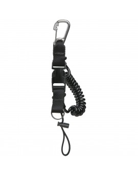 Stainless Steel Carabiner Coil Lanyard