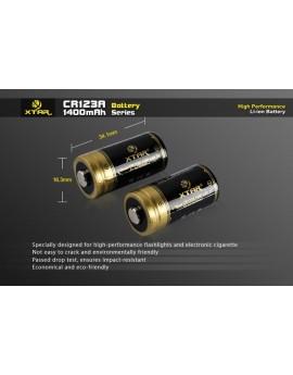 Xtar CR123 1400 mAh Batterijen Set 2 Stuks
