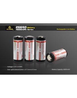 Xtar 26650 Batterij