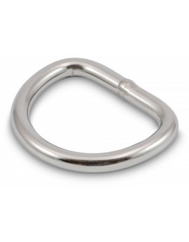 Inox D-Ring Ø 8mm