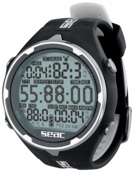Seac Action Dive Computer Watch Black/White