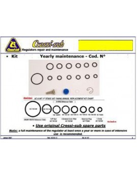 Cressi Maintenance Kit 1st Stage AC10 INT