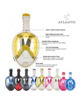 Atlantis 2.0 Snorkel Volgelaatsmasker