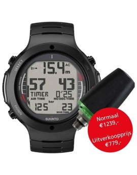 Suunto D6i All Black Steel USB + Transmitter